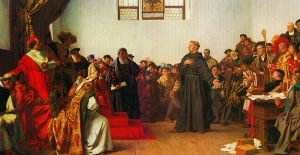"""""""Luther Before the Diet of Worms"""" by Anton von Werner, 1877 Credit: Wikipedia"""