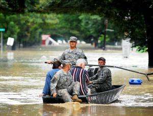 Flooding in Pittston, Pennsylvania. Credit: NY Daily News
