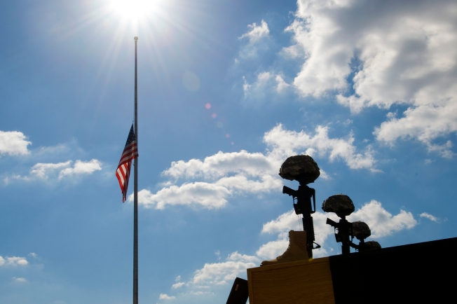 Flags Lowered