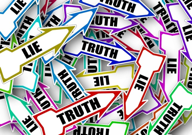 Lie Note Directory Marking Arrow Truth Direction